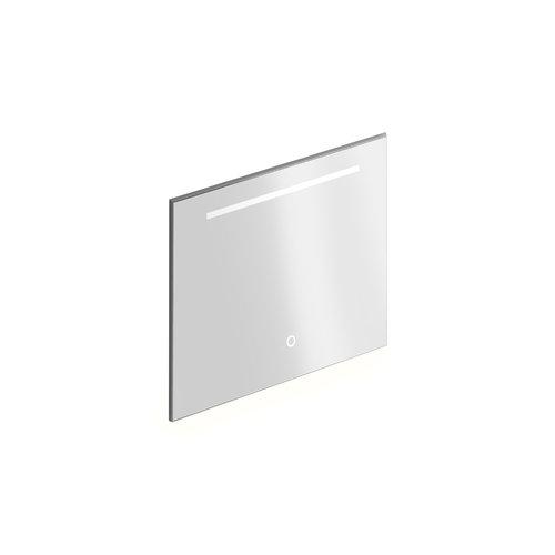 Badkamerspiegel Xenz Bardolino 80x70 cm met Horizontale Verlichtingsbaan en Spiegelverwarming