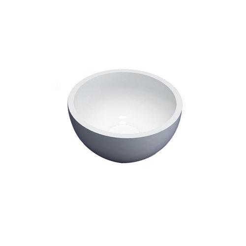 Fontein Waskom Sanilux Solid Surface 20 cm Wit