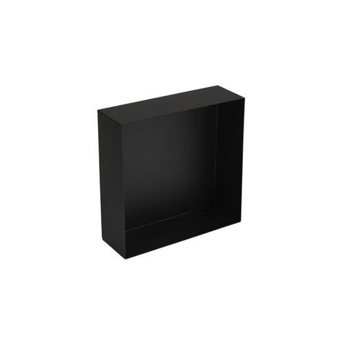 Inbouwnis Plieger Inbox Wand 30x30x10cm Waterproof Zwart