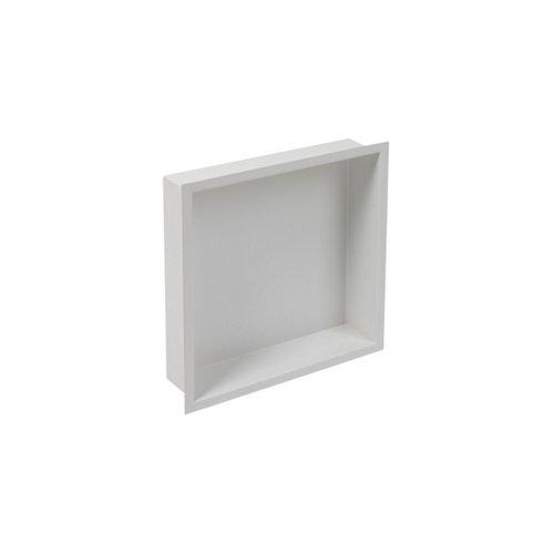 Inbouwnis Plieger Inbox Wand Met Flens 30x30x7.5cm Waterproof Wit