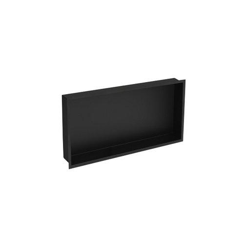 Inbouwnis Plieger Inbox Wand Met Flens 60x30x7.5cm Waterproof Zwart