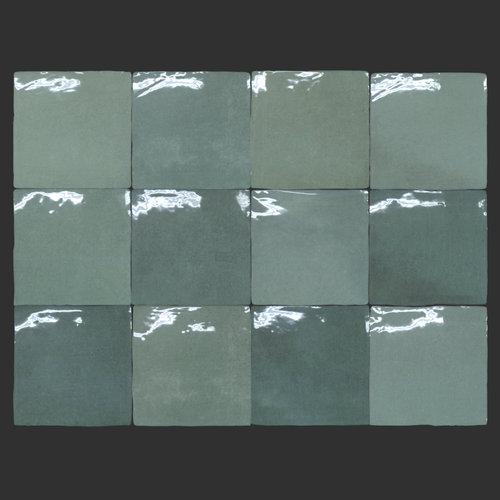 Wandtegel Rajoles Tesanal Verde Brillo 13x13 cm Prijs P/m2