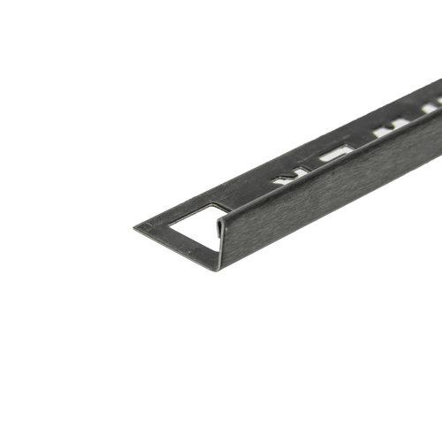 Tegelprofiel OX-Tools Eltex 11mm 270 cm RVS Geborsteld Gun Metal