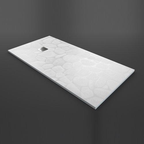 Douchebak Texence Stone met Afvoer Hoogwaardig Composiet (alle maten, alle kleuren)