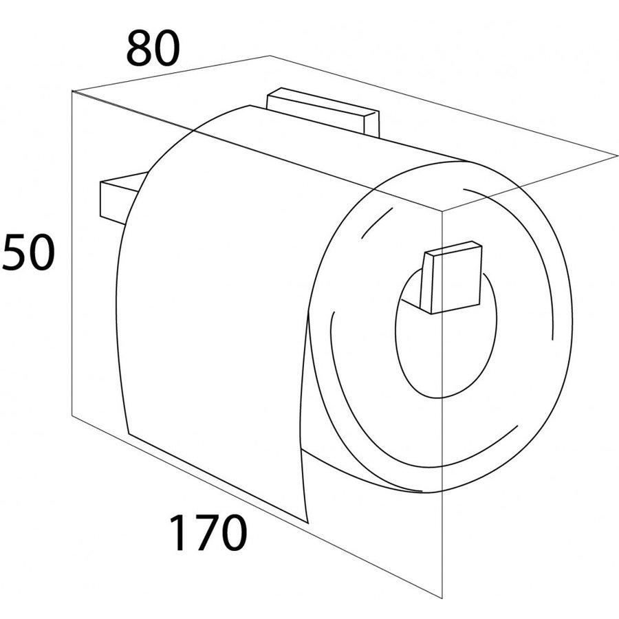 Toiletrolhouder Tiger Items Vast RVS