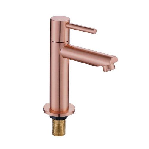 Toiletkraan Best Design Lyon Uitloop Recht 14 cm 1-hendel Mat Rose Goud