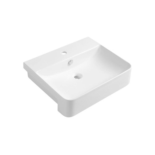 Wastafel Semi Inbouw Sapho Sott Aqua Rechthoekig 59x49x15 cm Keramiek Wit