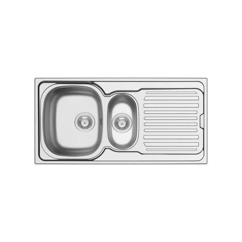Spoelbak Uitstortgootsteen Van Marcke Hypero 1.5B 100x50cm RVS
