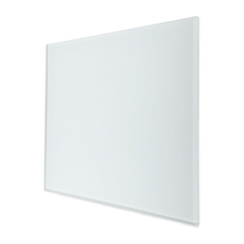 Ventilatierooster Design BWS Ventilatie Vierkant 12.5cm Vlak Glas Mat Wit