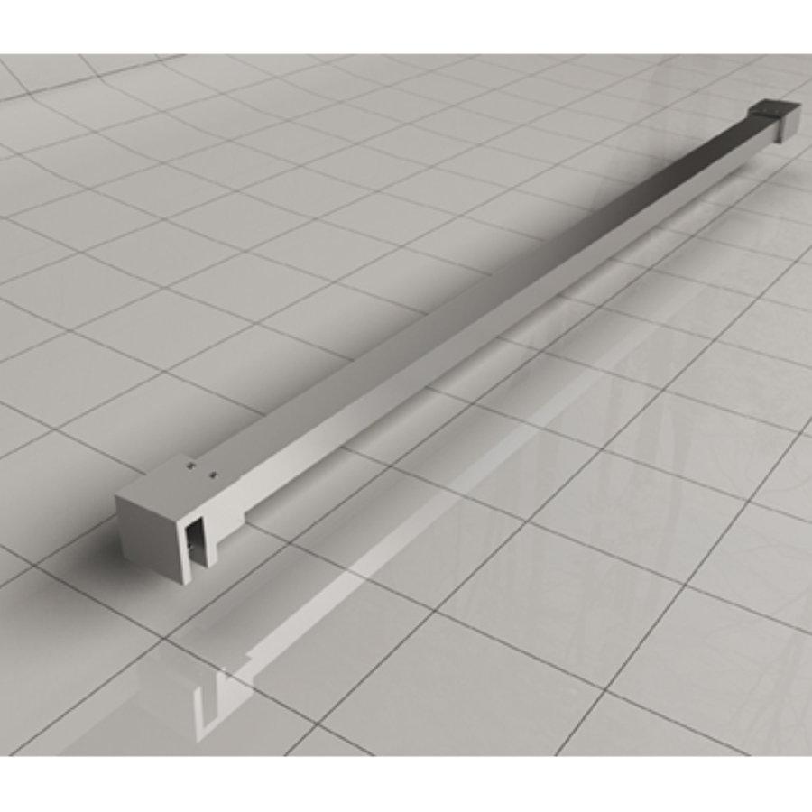 AQS Vrijstaande Inloopdouche Pro Line Helder Glas met Twee Stabilisatiestangen Chroom (13 varianten)