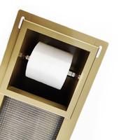 Inbouw Toiletrolhouder Wiesbaden met Reserve Rolhouder RVS Goud