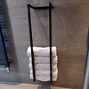 Aqua Splash Handdoekenrek AQS Industrieel 95x25x20 cm Black Chrome