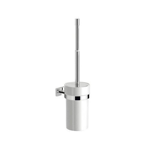 Toiletborstelhouder Sapho Olymp Hangend 9.5x43.8 cm Chroom / Wit