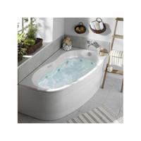 Allibert Whirlpool Elba Duo Links Luxzen 2 160x100x56 cm Wit
