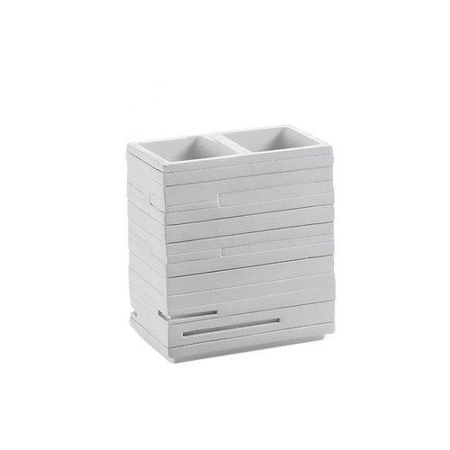 Tandenborstelhouder Sapho Quadrotto Vrijstaand 11.5x10.2x6.2 cm Polyresin Wit