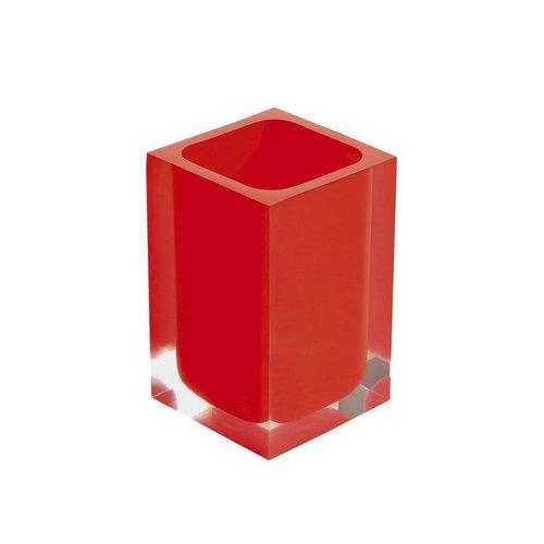 Tandenborstelhouder Sapho Rainbow Vrijstaand 11x7.2 cm Kunststof Rood