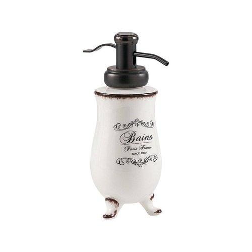 Zeepdispenser Sapho Amelie Vrijstaand 230 ML Keramiek Wit / Zwart