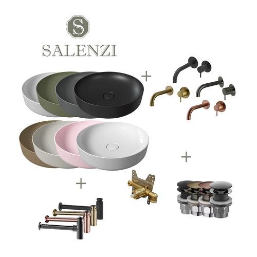 Salenzi Waskomset Form 45x12 cm (Keuze Uit 8 Kleuren)