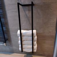 Handdoekenrek AQS Industrieel 95x25x20 cm Zwart