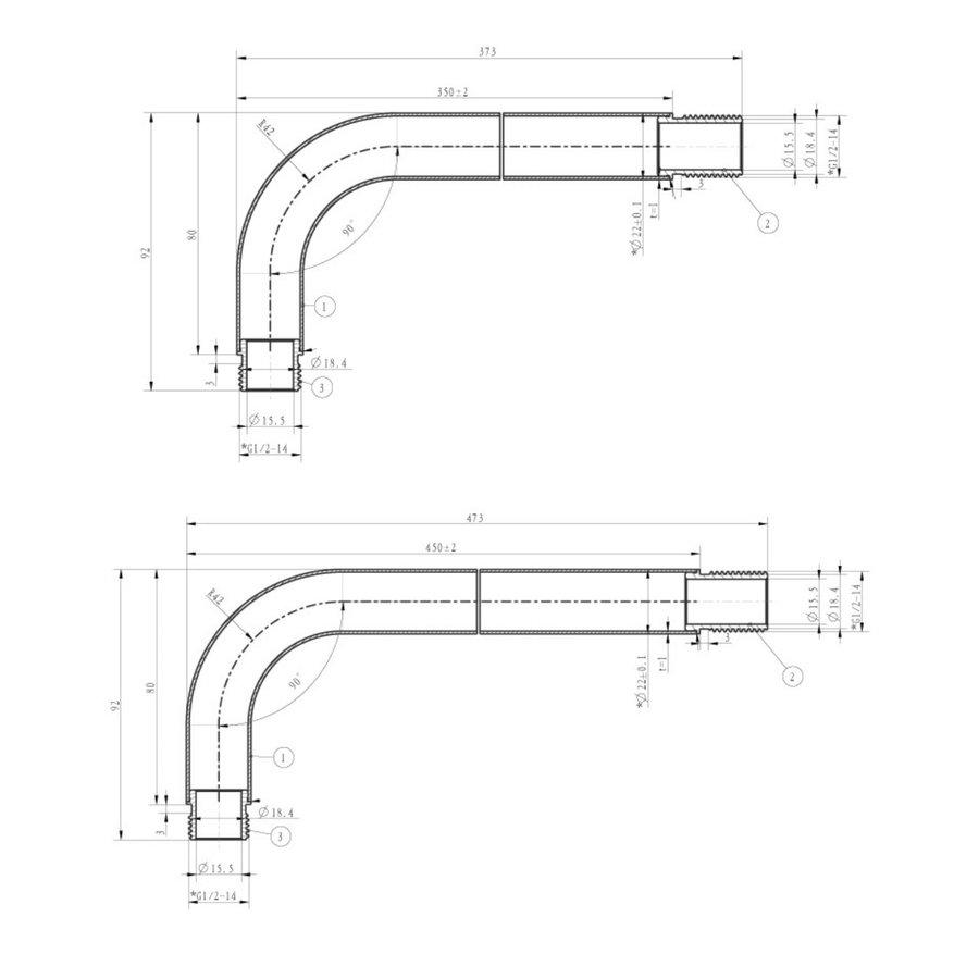 Inbouw Regendouche Set Klik 2-Wegs Chroom (Muuruitloop)