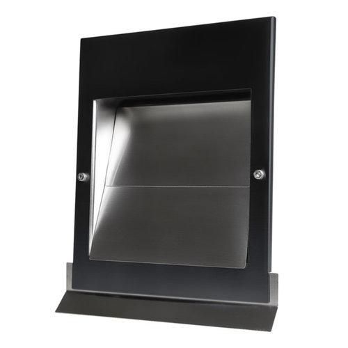 Overdruk Ventilatierooster Sigma 15 cm Mat Zwart