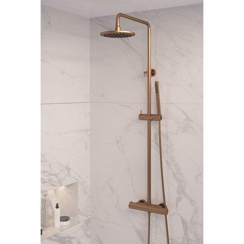 Regendouche Brauer Copper Showerpipe Met Thermostaat 20cm Koper