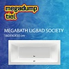 MegaBath Ligbad Society 180X90X50 Cm Mat Antraciet