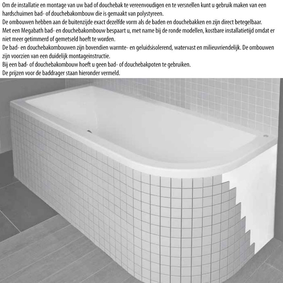 Ligbad Society 190X90X50 Cm Ebony Zwart