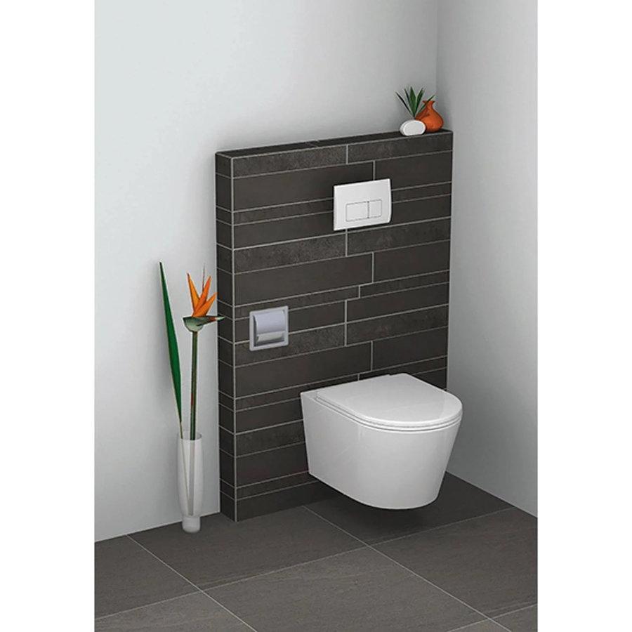 Inbouw Toiletrolhouder Wiesbaden RVS (met Klep)