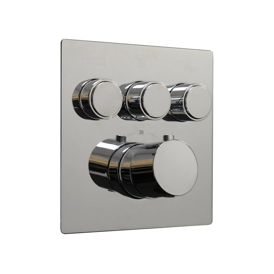 Afbouwdeel Boss & Wessing Douchekraan Thermostatisch 3-Wegs Chroom