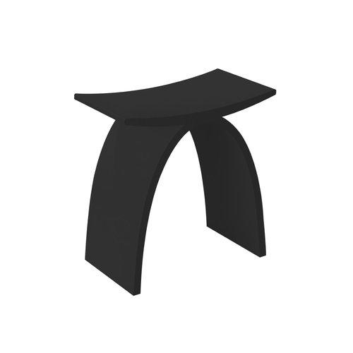 Badkamer Stoel Best Design Lucky-Black Solid Surface Zwart
