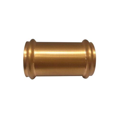 Koppelstuk Exellence 32mm tbv Vloerbuis Geborsteld Koper