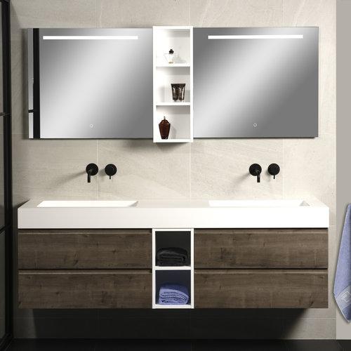 Badkamerspiegel Xenz Lazise 300x70cm met LED Verlichting en Spiegelverwarming