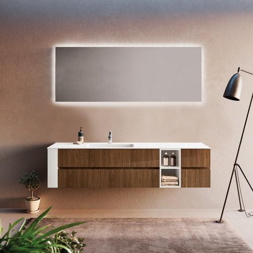 Badkamerspiegel Xenz Peschiera 70x70cm met Rondom Indirecte Verlichting