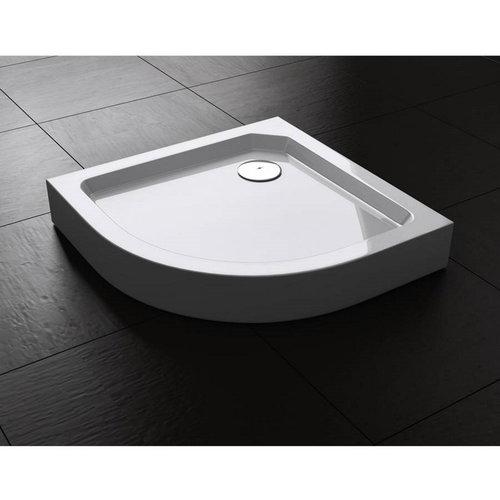 Best Design Project Opbouwdouchebak 1/4 Rond 80x80x14 cm  R=550 Glanzend Wit