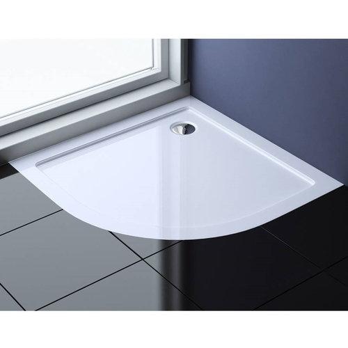 Best Design Mino Lage Douchebak 1/4 Rond 80x80x4 cm  R=550 Glanzend Wit
