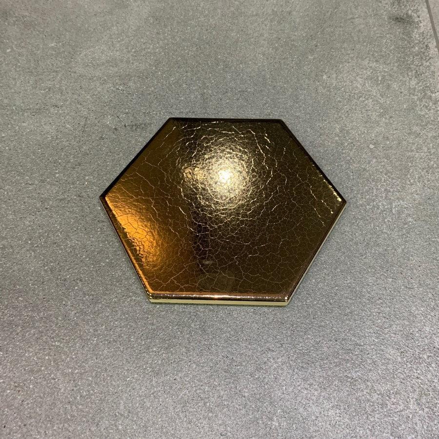 Wandtegels Hexagon 15x17 cm Dark Gold (Prijs per m2)