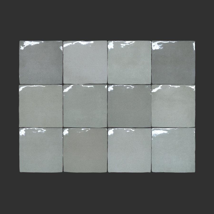 Wandtegel Rajoles Tesanal Gris Brillo 13x13 cm (prijs p/m2)