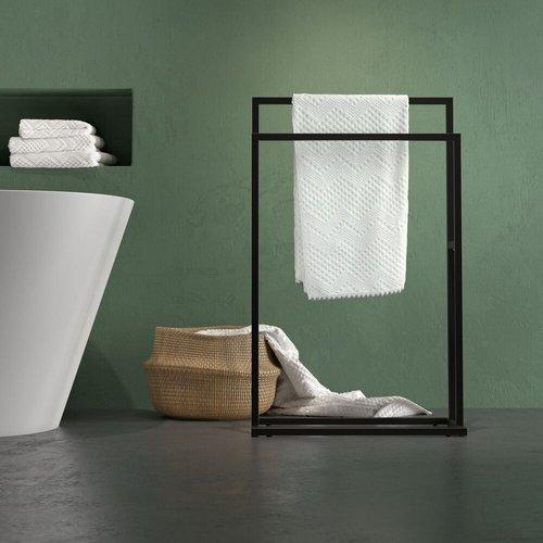 Handdoekrek Sealskin Carré 48x78.5x24cm Vrijstaand Mat Zwart