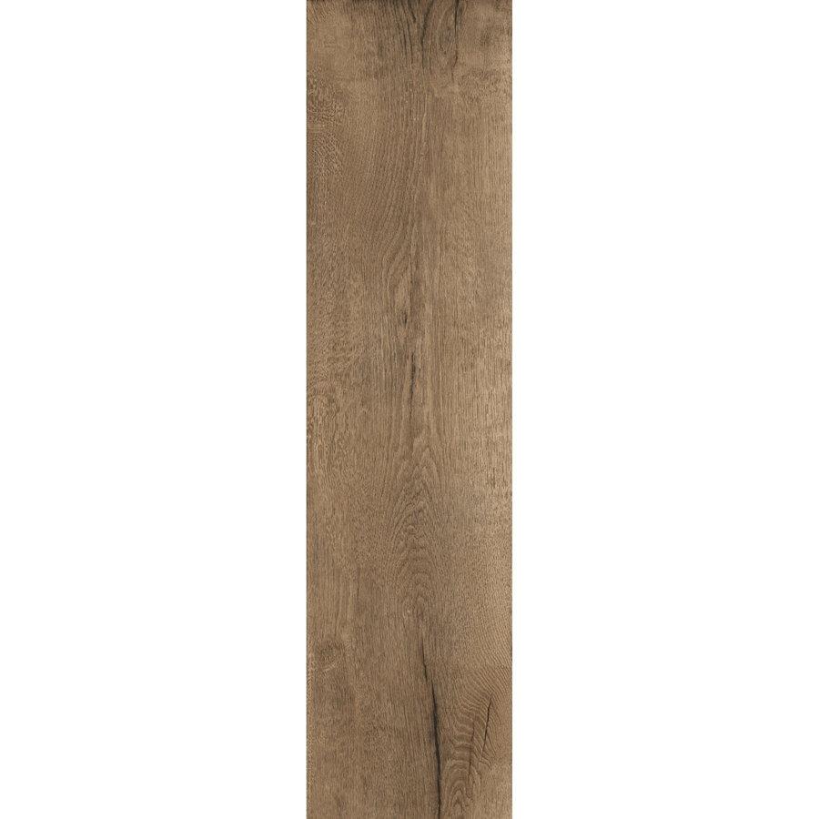 Vloertegel Timewood Brown 30x120 cm Sant'Agostino(doosinhoud 1.44m2)