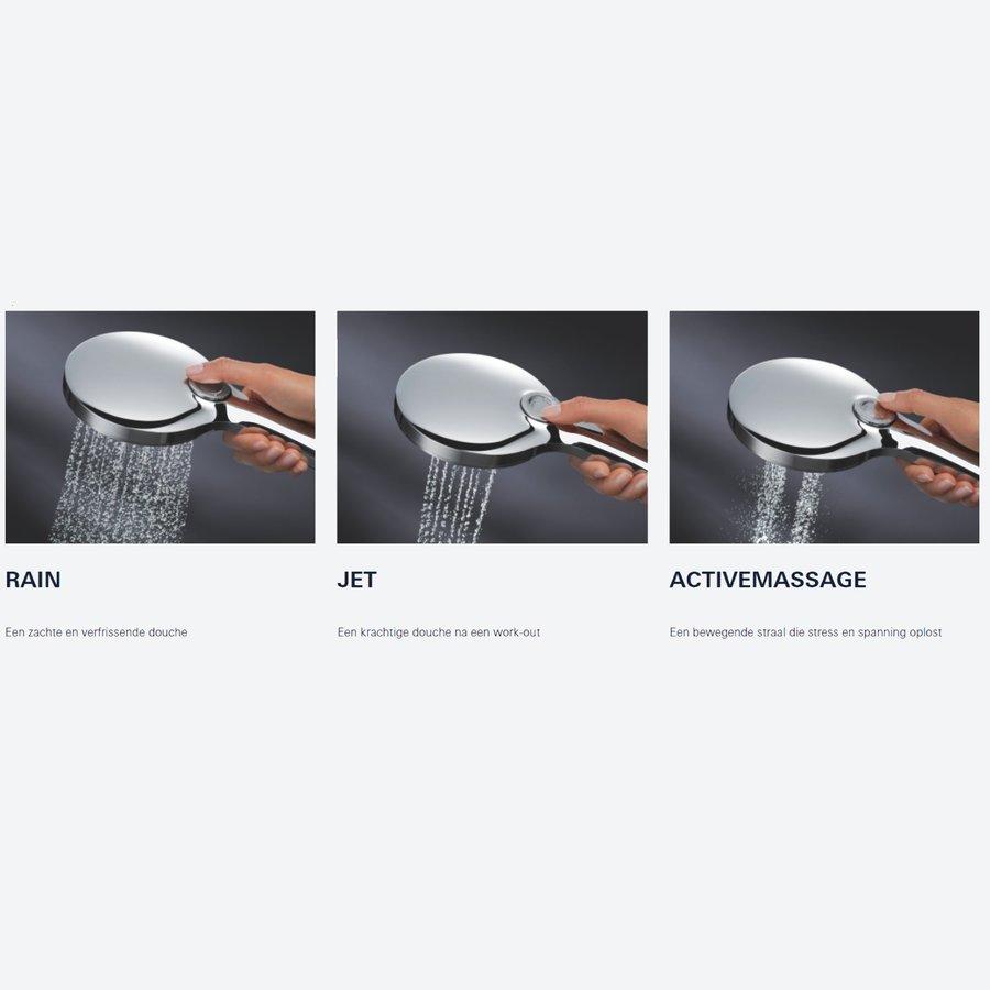 Handdouche Grohe Rainshower SmartActive 130 Rond 13cm Cool Sunrise (Mat Goud)