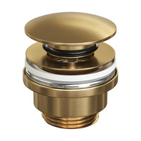 Afvoerplug Brauer Klikwaste Gold Edition Geborsteld Goud