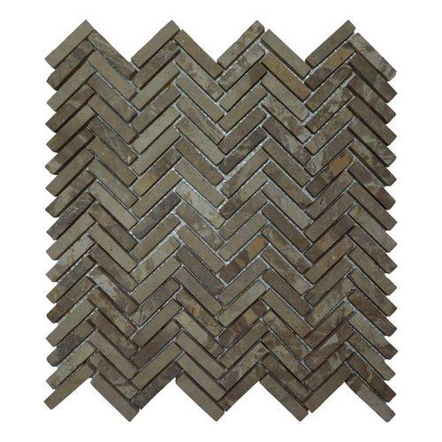 Mozaiek Parquet 1x4.8 30x30 cm Marmer Moccacino Visgraat (doosinhoud 1 m2)