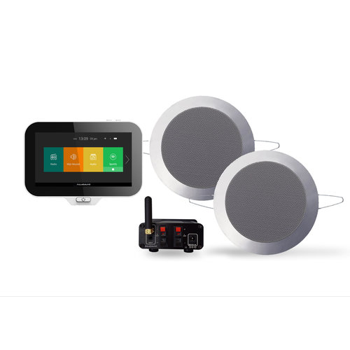 Music Center Aquasound N-Joy Controller (IPX7) + Wand Lader + Twist Speakerset + Mini-Box / 50 Watt Mat Chroom