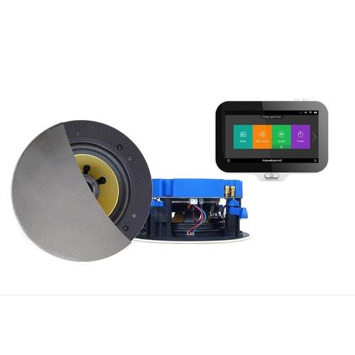 Music Center Aquasound N-Joy Controller + Wandlader+ Move Speakerset (70 Watt) Mat Chroom