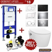 UP320 Toiletset 18 Idevit Alfa Met Bidet Rimfree En Drukplaat