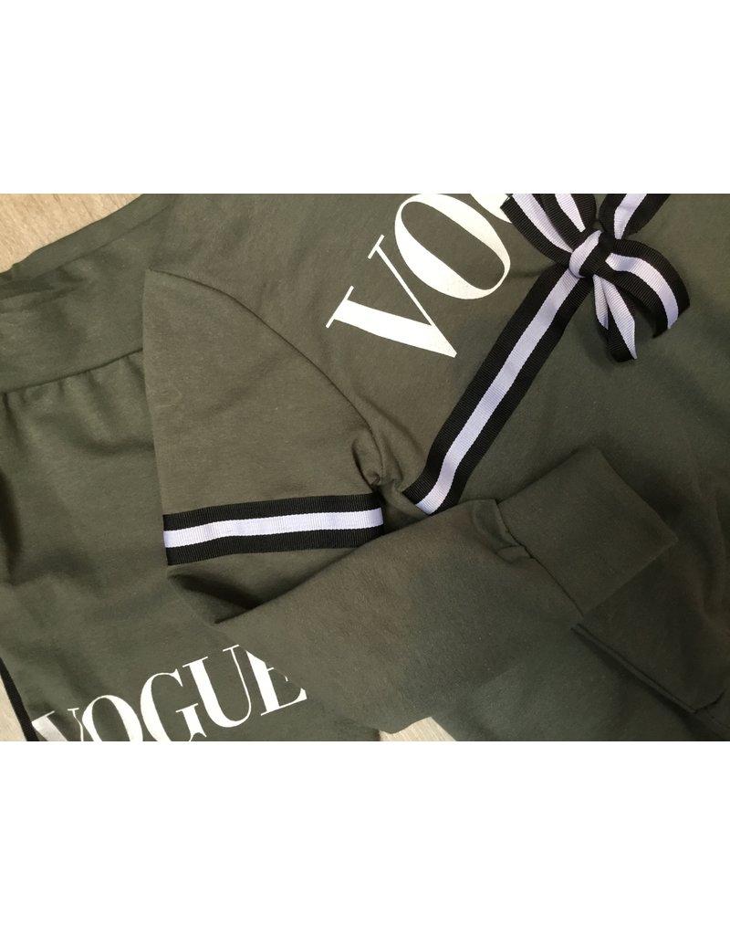 jogging pak groen  voque