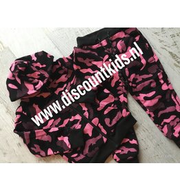 Leger Joggingsetje (Roze/Zwart)