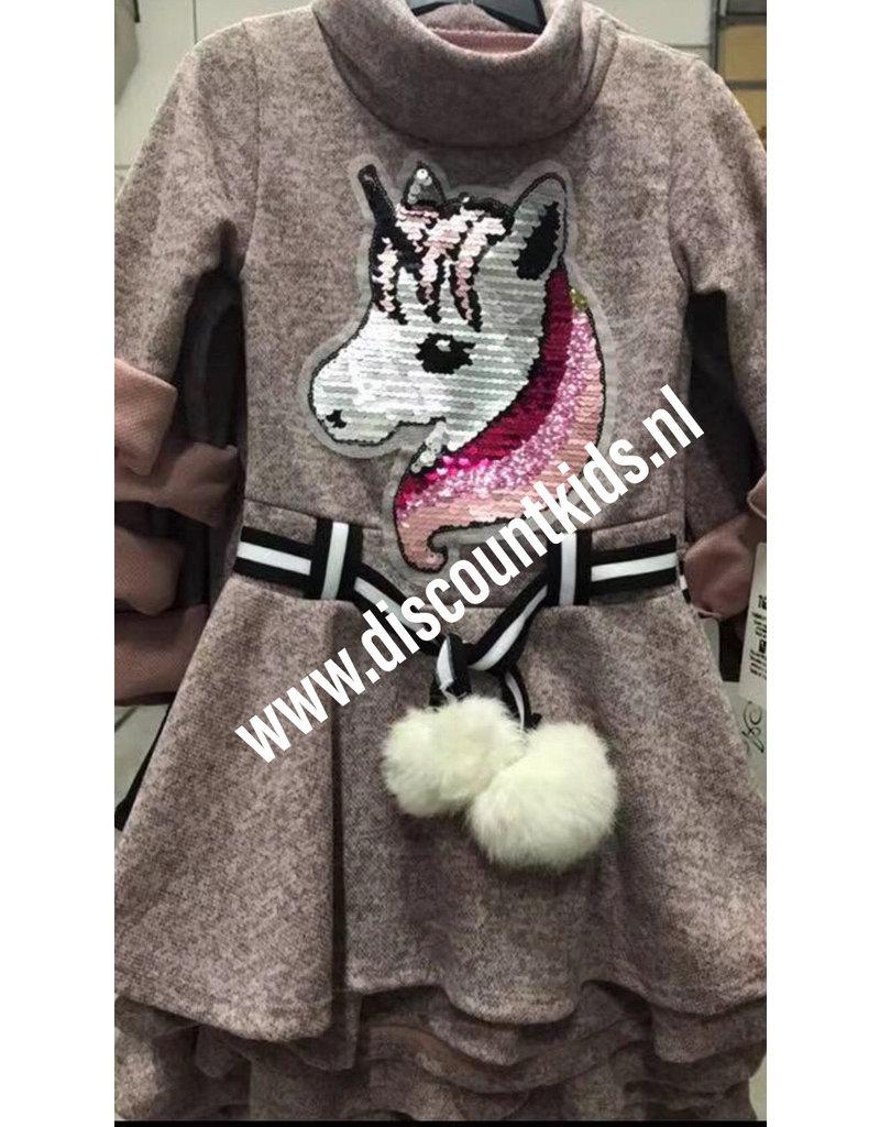 Eenhoorn jurk Met verander pailletten
