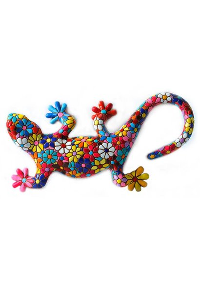 Salamander in Flower Mosaic